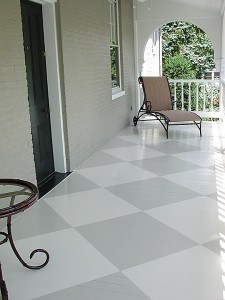 Painted Porch Floor Harlequin