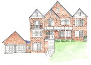 Architectural Rendering illustrated by Ashley Spencer