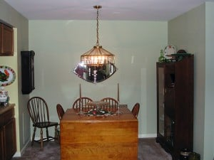 Before Pearl Striped Dining Room