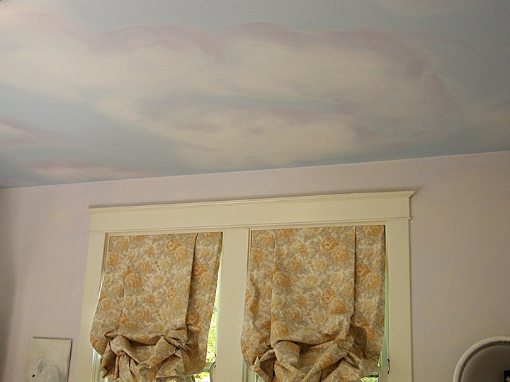 Ceiling Clouds painted by Ashley Spencer
