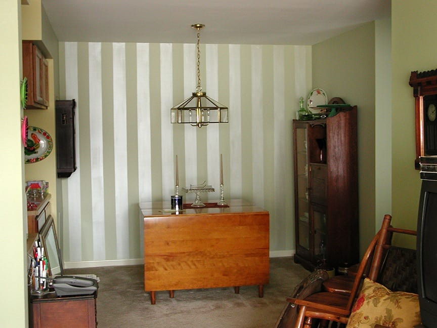 After: Pearlized Stripes painted by Ashley Spencer