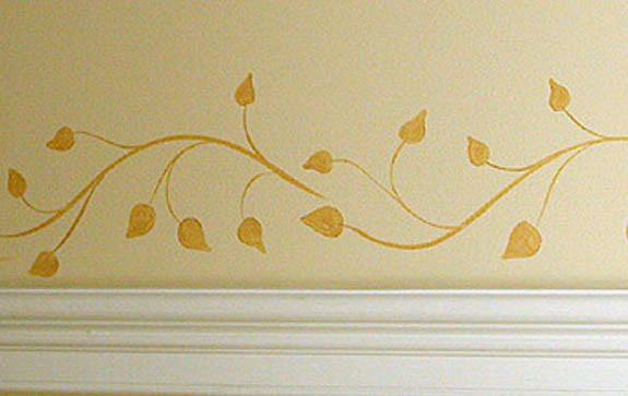 Leaf pattern painted by Ashley Spencer
