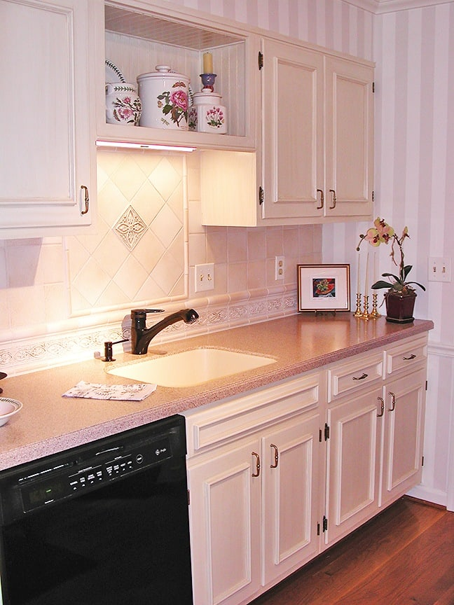 Brushed-On Glazed Cabinets ft side After - Ashley Spencer
