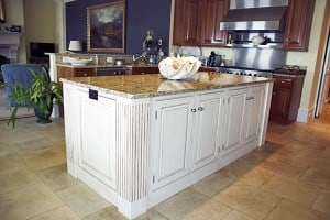 Island Cabinets After Glazing by Ashley Spencer