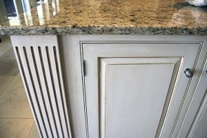 Kitchen Island Glazing Close Up