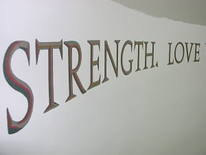Strength Love 3-D Quote painted by Ashley Spencer