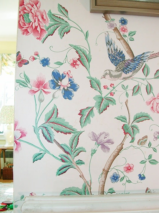 Wallpaper repair After painted by Ashley Spencer