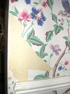 Wallpaper repair before - Ashley Spencer