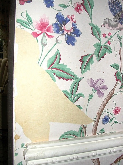 Wallpaper repair before - Ashley Spencer