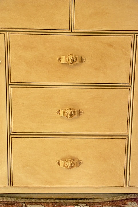 Drawer Detail with Dogs Heads on ashley-spencer.com