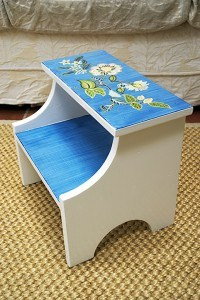 Side view Footstool After by Ashley Spencer