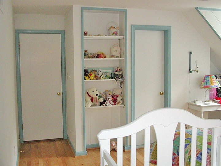 Nursery before decorative painting on ashley-spencer.com