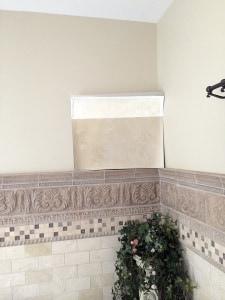 Bathroom Before with proposed finish via ashley-spencer.com