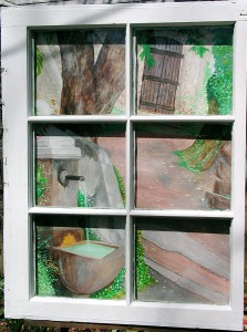 Murall Window into Provence with frame_by C. Ashley Spencer