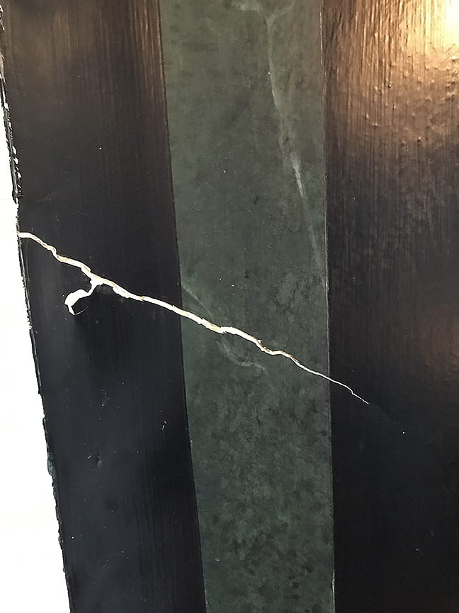 Faux Finish Crack Repair before restoration